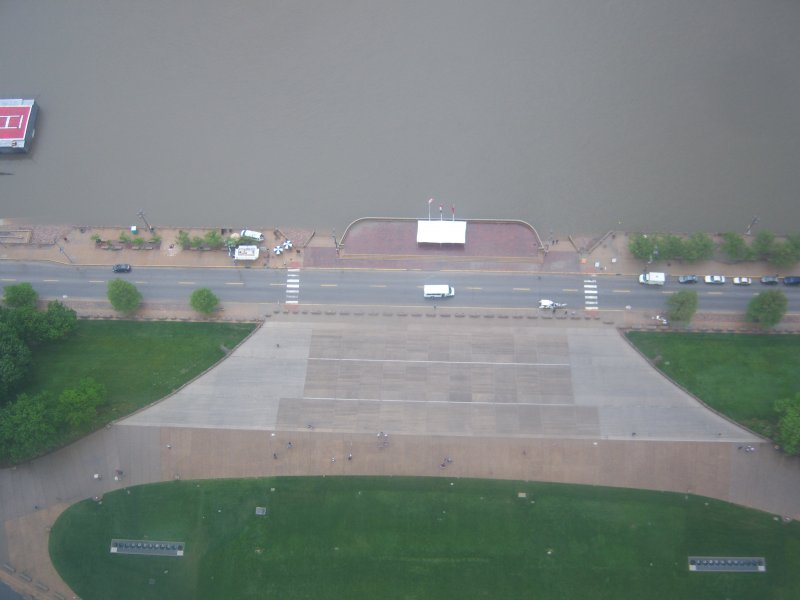 Looking down from the Arch