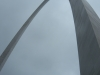 Looking up at the St. Louis arch