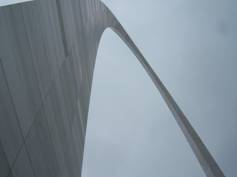 Bottom looking up, St. Louis Arch