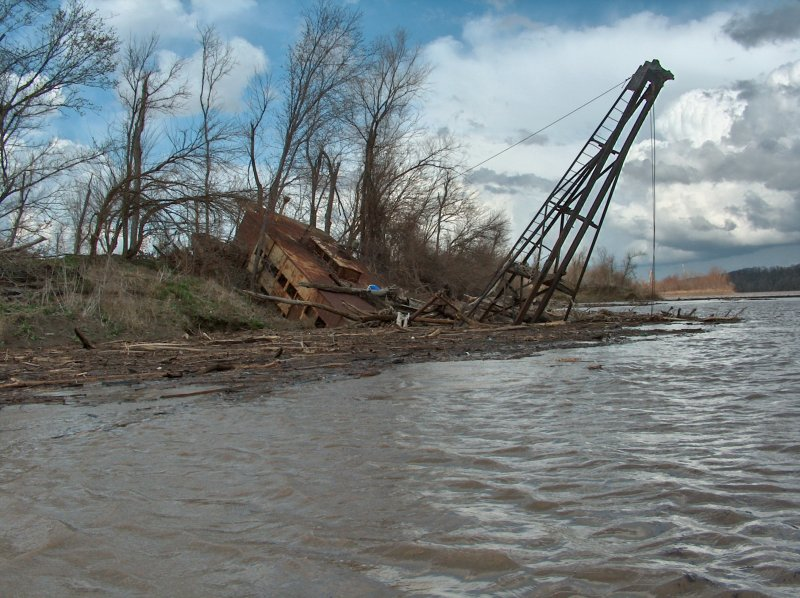 Wrecked Boat Missouri River