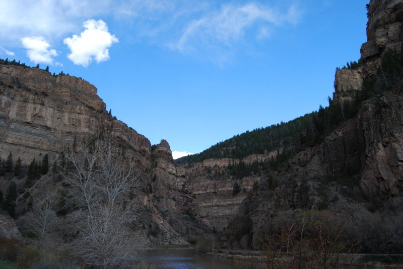 Bluffs by Hanging Lake Colorado