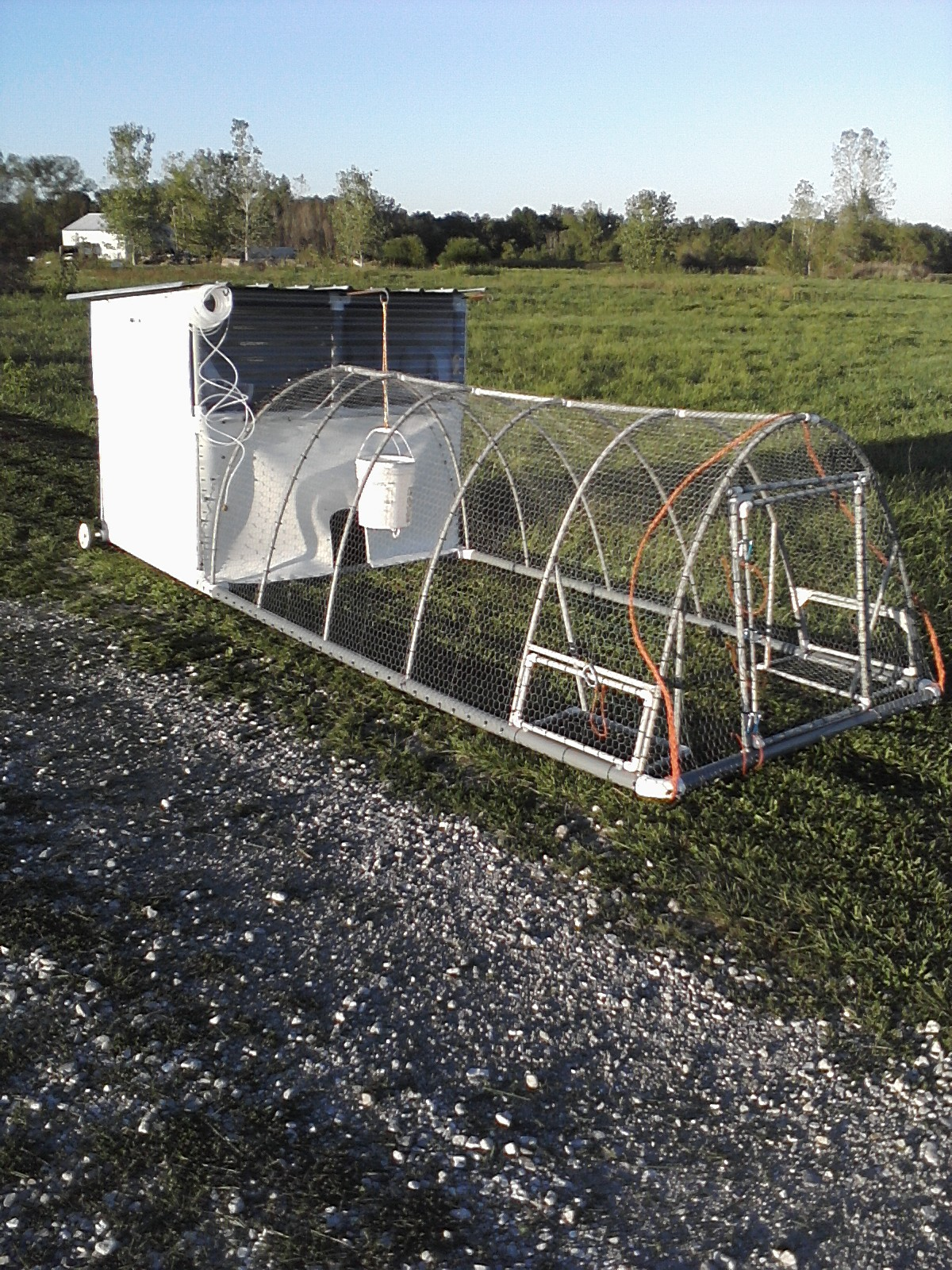 Build Pvc Chicken Tractor : Chicken tractor good design practices lewis family farm