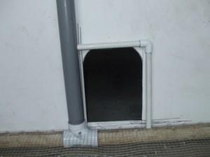 Coop Doorway on the Inside