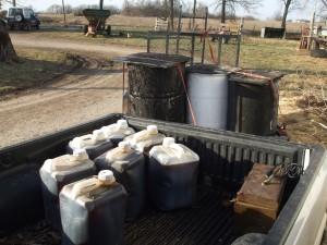 Treasure, 120 gallons of oil.