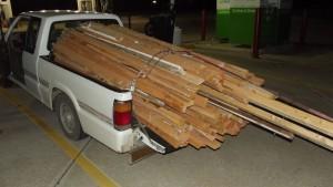 Construction Dumpster 2x4 Haul