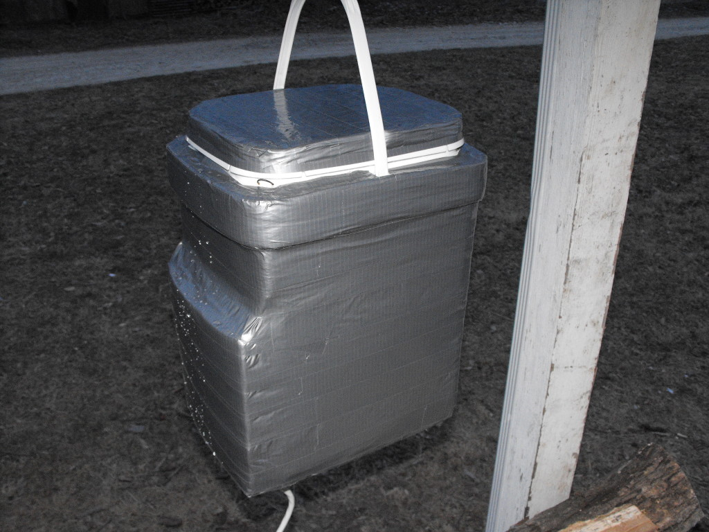 LFF Homemade Freeze Proof Chicken Waterer